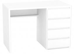 Psací stůl REA Play 2, pravý - bílá