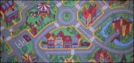 Dětský hrací koberec Rally 133x133 cm