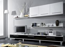 Obývací stěna MONICA černá