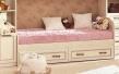 Dětská postel 80x190cm Sofia - béžová/kůže lento s dokoupenými zásuvkami