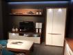 RTV stolek s osvětlením Saint Tropez 131B - dub sangallo/bílý lesk