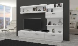 *Obývací stěna AXAL bílá/bílý lesk