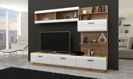 *Obývací stěna AXAL lefkas/bílý lesk