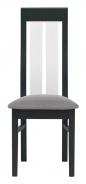 Jídelní židle Naomi - ořech/bílá