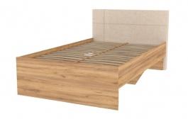 Studentská postel Ezra 120x200cm - dub zlatý/krémová