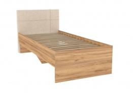 Dětská postel Ezra 90x200cm - dub zlatý/krémová