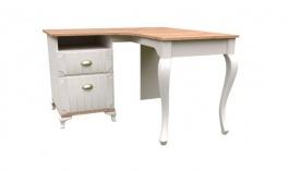 Rohový psací stůl Amfora - dub zlatý/béžová