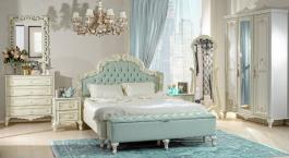 Luxusní ložnice Margaret - alabastr/zelená