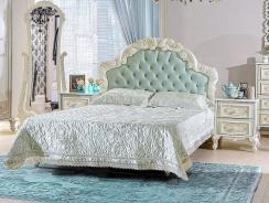 Manželská postel Margaret 160x200cm - krémová/mintová