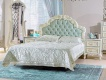 Manželská postel s roštem Margaret 160x200cm - alabastr/mintová
