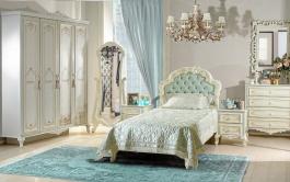 Luxusní dětský pokoj Margaret - krémová/zelená