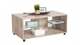 Konferenční stolek Brady - dub šedý/béžová