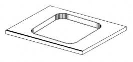 PD do koupelen s výřezem 60x50 cm výběr barev