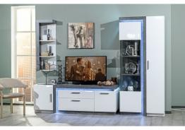 Obývací pokoj Bastien - bílá/dub šedý