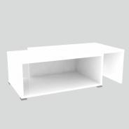 Konferenční rozkládací stolek, bílá/bílá, DRON