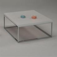 Konferenční stolek bílá / extra vysoký lesk HG, chrom, Natanel