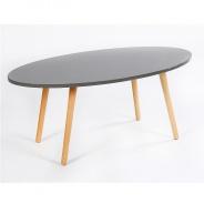Konferenční stolek, šedá/ natural, BAZZY 1