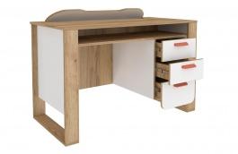 Psací stůl Brody - dub zlatý/bílá