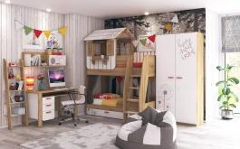 Dětský pokoj pro dvě děti Brody - dub zlatý/bílá