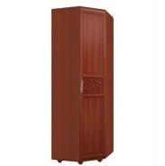 Rohová předsíňová skříň Sofia s plnými dveřmi - ořech