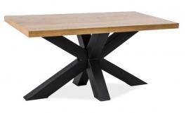 Konferenční stolek CROSS B dřevo masiv/kov