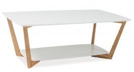 Konferenční stolek LARVIK A bílý