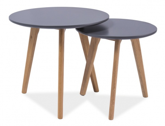 Konferenční stolky - sestava MILAN S2 šedá/dub