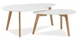 Konferenční stolky - sestava MILAN L2 bílá