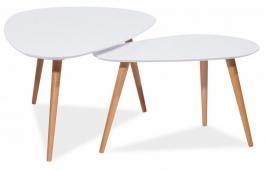 Konferenční stolky- komplet NOLAN B bílý