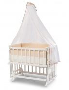 Přístavná kolébka k posteli Vivian 50x90cm - bílá