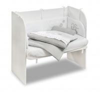 Přístavná postýlka k posteli Lola 46x80cm - bílá