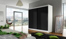 Šatní skříň BEGA I bílá/černá