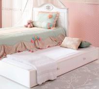 Přistýlka k posteli Carmen 90x190cm - bílá