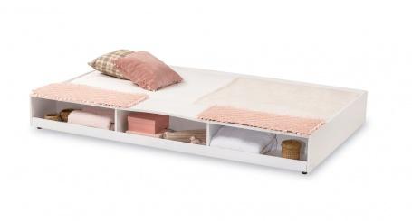 Přistýlka s úložným prostorem Carmen 90x190cm - bílá