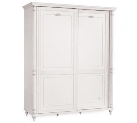 Šatní skříň s posuvnými dveřmi Carmen - bílá