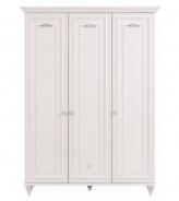 Třídveřová šatní skříň Carmen - bílá