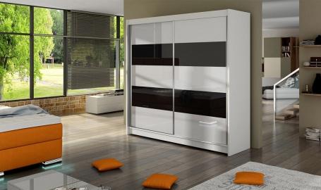 Šatní skříň FALKO IV bílá/černá