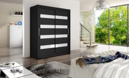 Šatní skříň WESTA IV černá