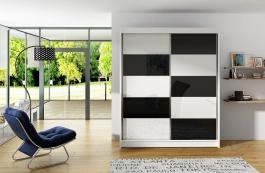 Šatní skříň VITO II bílá/černá