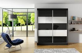 Šatní skříň VITO IV černá/bílá