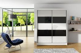 Šatní skříň VITO IV bílá/černá