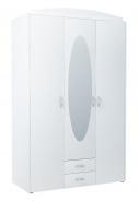 Šatní skříň GREACE 3D2S bílá