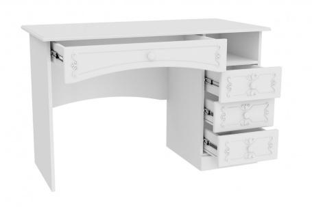 Rustikální psací stůl Juliet - bílá