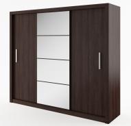 Šatní skříň IDEA 01 wenge zrcadlo 250 cm