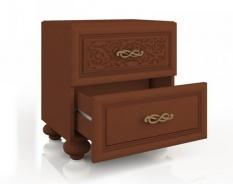 Noční stolek s dvěma zásuvkami Sofia - ořech