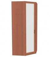 Rohová skříň do ložnice Sofia se zrcadlovými dveřmi - ořech