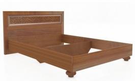 Manželská postel 140x200cm Sofia s klasickým čelem bez roštu - ořech