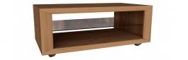Konferenční stolek Morgana - dub zlatý/světle šedá