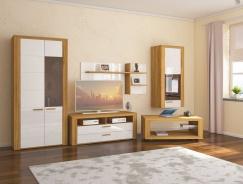 Obývací pokoj Morgana - dub zlatý/světle šedá