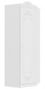 Rustikální rohová skříň Juliet - bílá